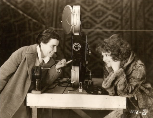Dorothy Arzner with Clara Bow